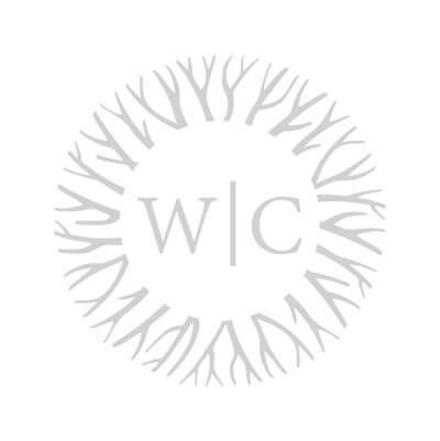 Contemporary Ebony Base Walnut Dining Table w/ Stainless Steel Ribbon Accent