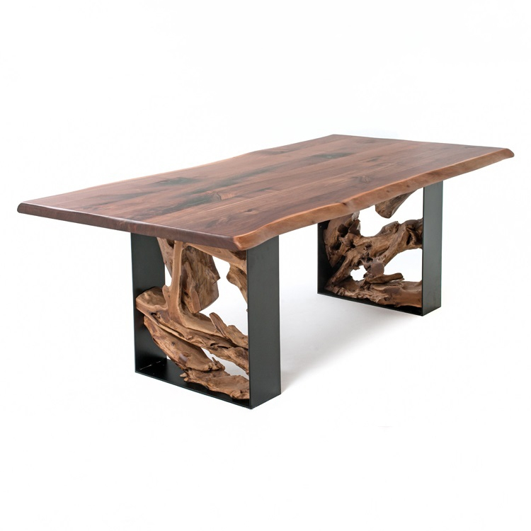 Modern Rustic Live Edge Table Dt01052, Modern Rustic Furniture Images
